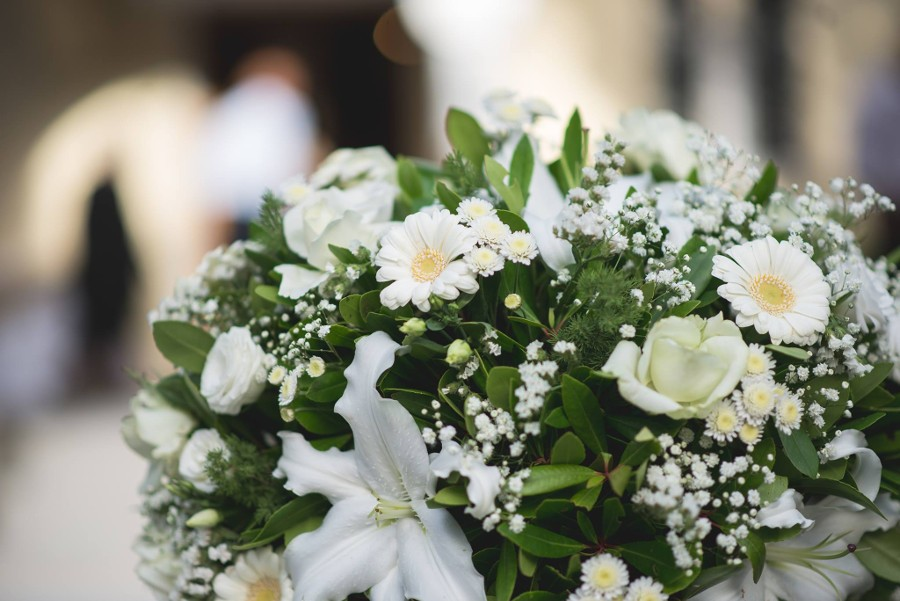 Beautiful flower from Greek wedding destination
