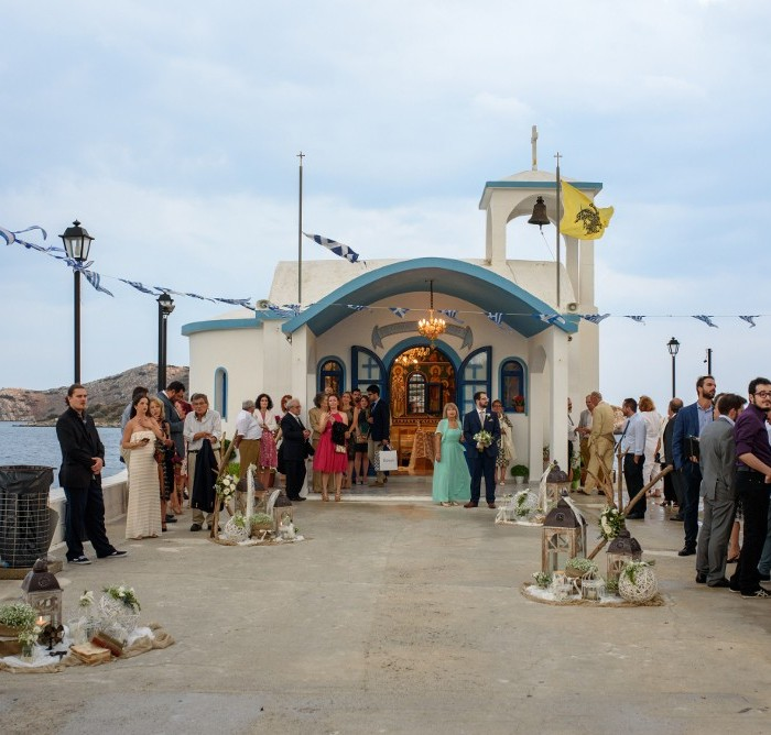 Greek church near sea-wedding in Greece by Greekwed