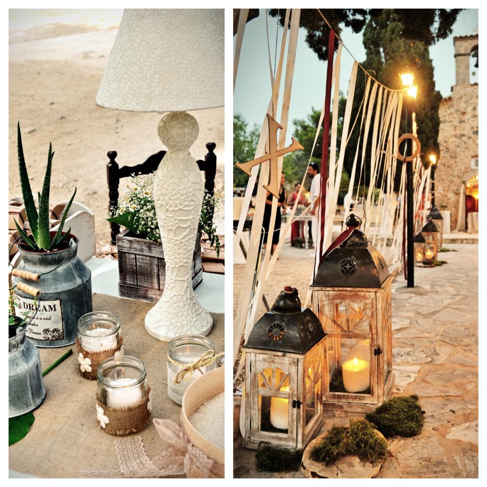 Amazing wedding decor in Greece
