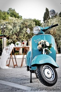 vespa wedding decoration